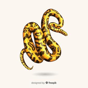 Fond de serpent dessinés à la main réaliste