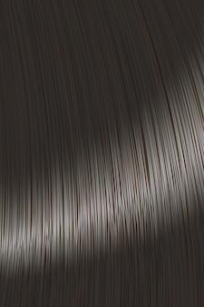 Fond de serrure de cheveux raides noir réaliste