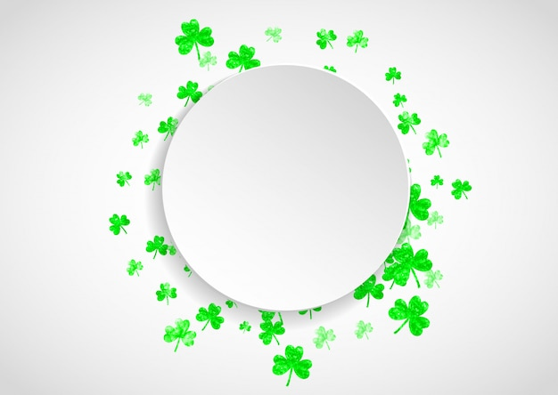 Fond de shamrock pour la saint patricks day.