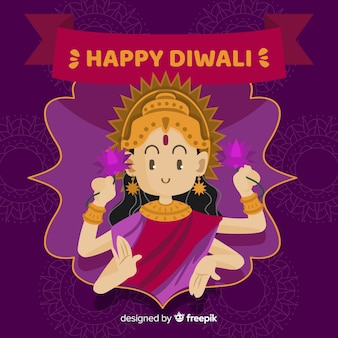 Fond de shiva diwali dessiné à la main