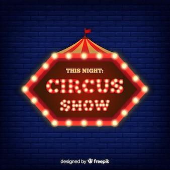 Fond de signe de cirque néon