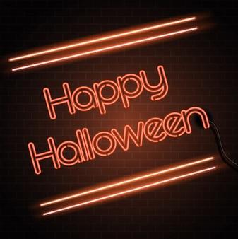 Fond de signe néon halloween