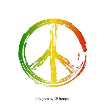 Fond de signe de paix reggae