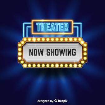 Fond de signe de théâtre