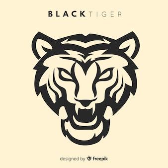 Fond de silhouette de tigre