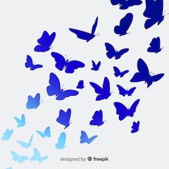 Fond de silhouettes de papillons