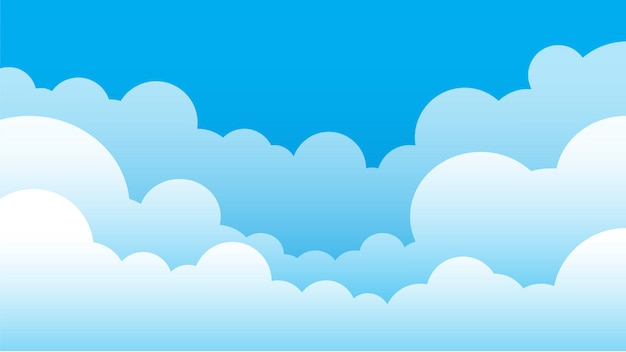 Fond simple ciel et nuage