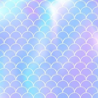 Fond de sirène dégradé avec écailles holographiques