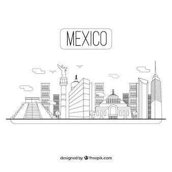 Fond de skyline au mexique