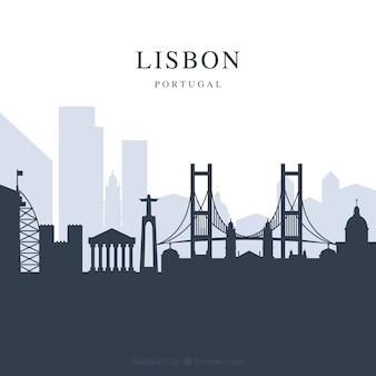 Fond de skyline de lisbonne
