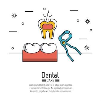 Fond de soins dentaires infographique