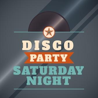 Fond de soirée disco