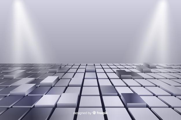 Fond de sol cubique brillant réaliste