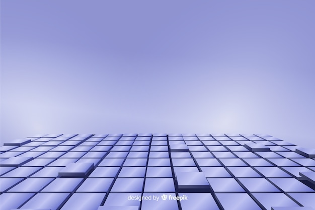 Fond de sol réaliste cubes