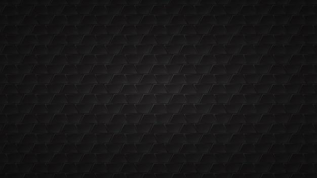 Fond sombre abstrait de carreaux trapèze noirs avec des espaces gris entre eux