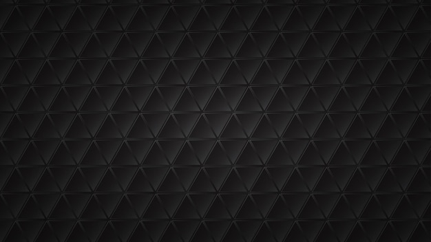Fond sombre abstrait de carreaux triangulaires noirs avec des espaces gris entre eux