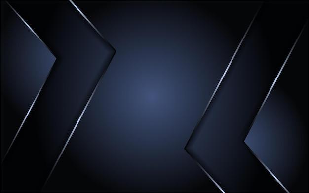 Fond sombre abstrait combiné avec un élément argenté et une couche de chevauchement