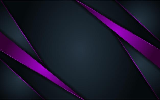 Fond sombre abstrait combiné avec des lignes violettes