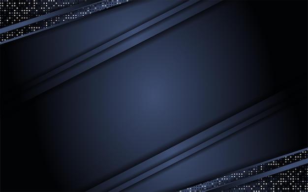 Fond sombre abstrait combiné avec des paillettes