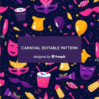 Fond sombre de carnaval brésilien