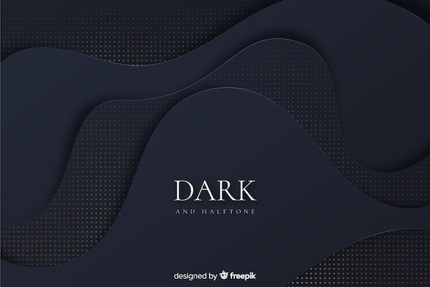 Fond sombre et doré