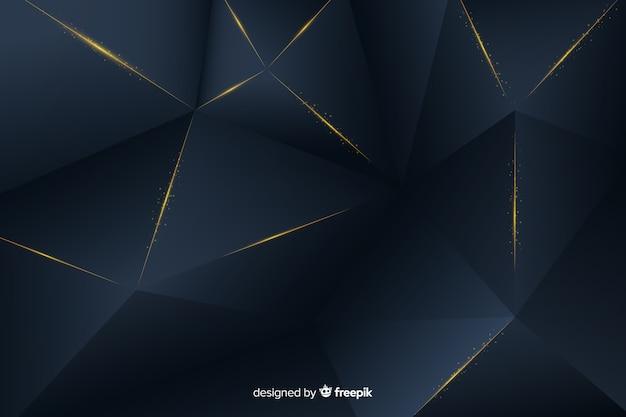 Fond sombre élégant avec des formes polygonales
