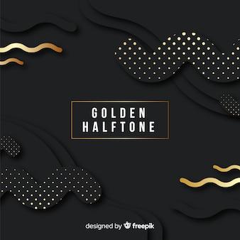 Fond sombre avec des étincelles dorées