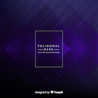 Fond sombre avec des formes polygonales