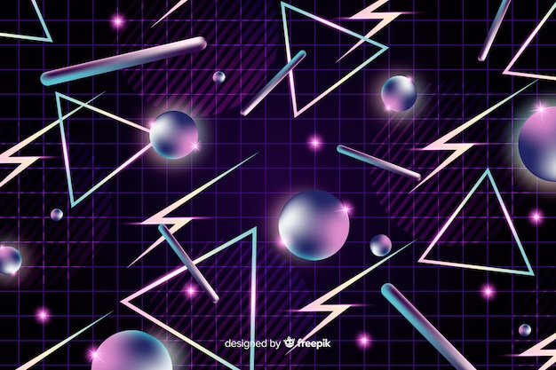 Fond sombre géométrique rétro