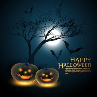 Fond sombre d'halloween