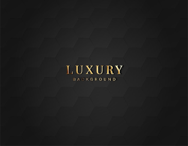 Fond sombre hexagonal de luxe avec dégradé de couleur