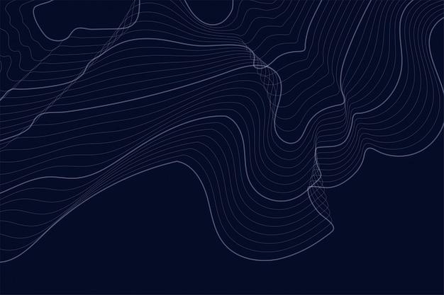 Fond sombre avec lignes de contour