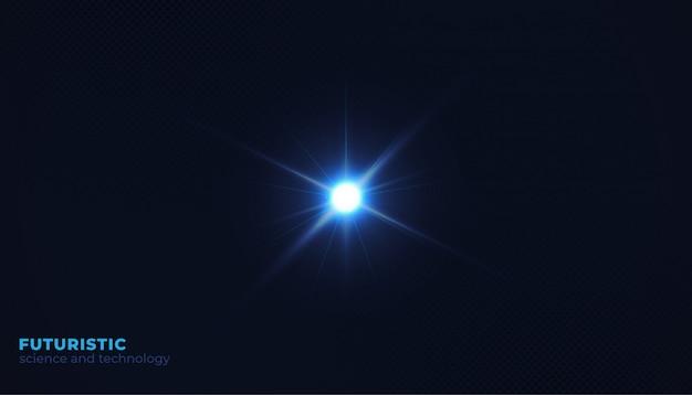 Fond sombre avec lumière flash