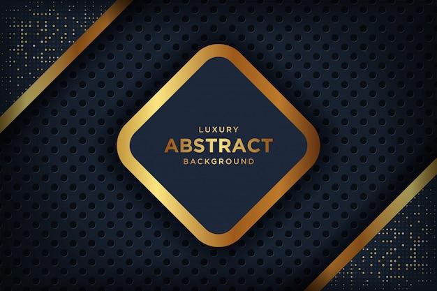 Fond sombre luxe abstraite avec une combinaison de points dorés brillants.