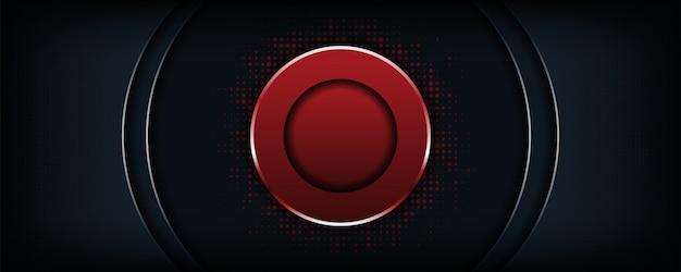 Fond sombre luxe abstraite avec forme de cercle rouge