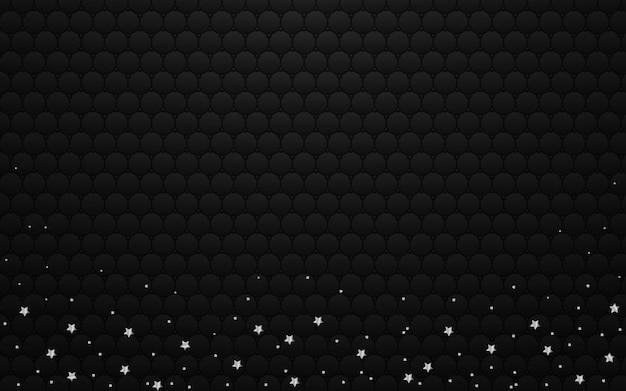 Fond sombre de luxe avec des étoiles d'argent