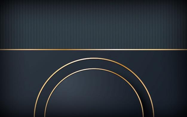Fond sombre de luxe avec forme de cercle