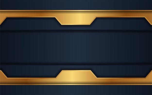 Le fond sombre de luxe se combine avec des lignes dorées éclatantes