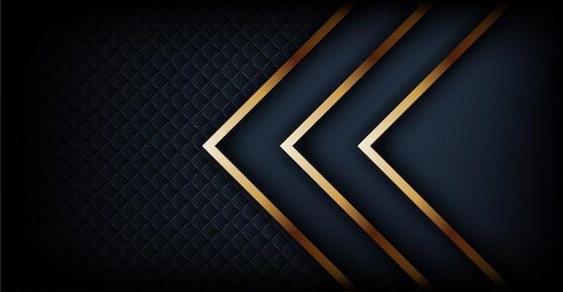 Fond sombre luxueux avec une combinaison de lignes dorées