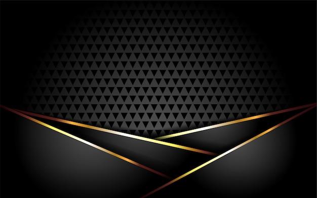 Fond sombre luxueux avec des lignes dorées