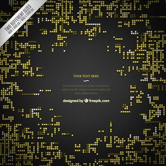 Fond sombre avec des pixels jaunes