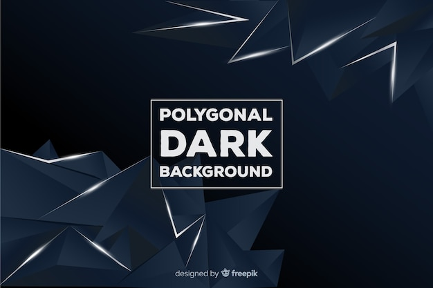 Fond sombre polygonale