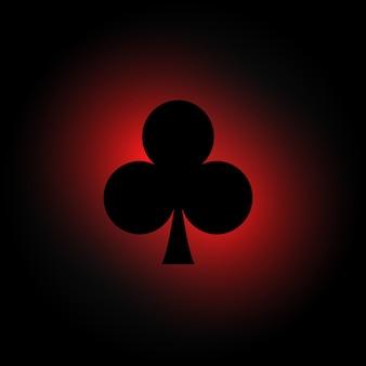 Fond sombre avec symboles de clubs