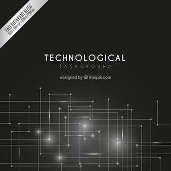 Fond sombre technologique