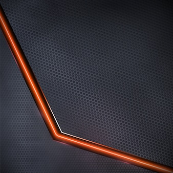 Fond sombre de vecteur avec néon rouge