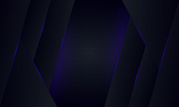 Fond sombre violet abstrait avec motif géométrique