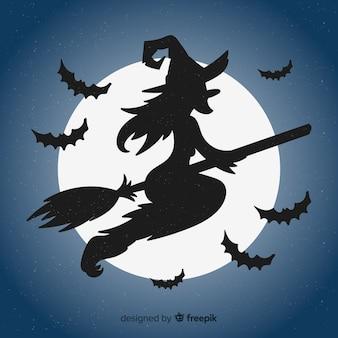 Fond de sorcière belle halloween