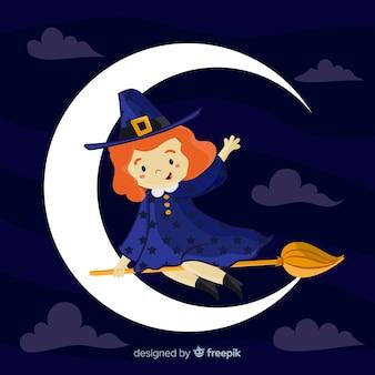 Fond de sorcière d'halloween