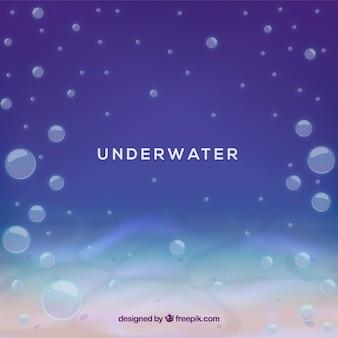 Fond sous l'eau avec des bulles