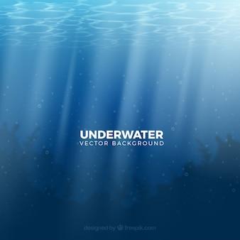 Fond sous-marin dans un style réaliste